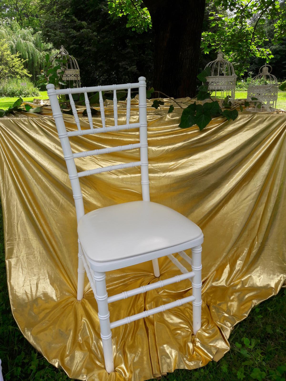 chiavari stoličky biele - Obrázok č. 1