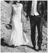 svadobné šaty s vlečkou,