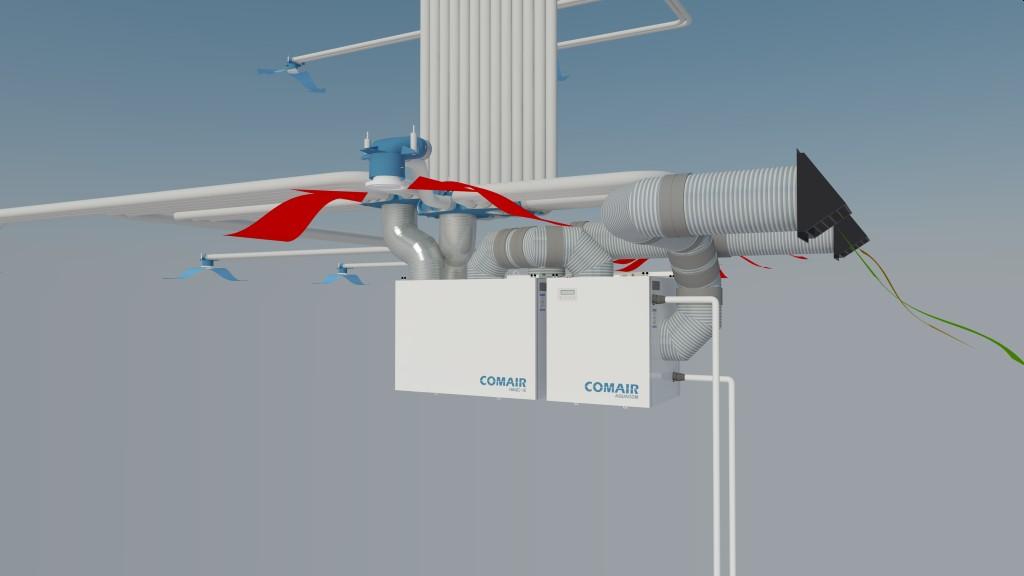 Ako to celé s vetraním prebieha? - Celý koncept odporúčame zapracovať už do samotného projektu nehnuteľnosti. Pri včasnom naprojektovaní odpadáva väčšina nákladov, ktoré sa spájajú s dodatočným zakrytím vzduchovodných potrubí.