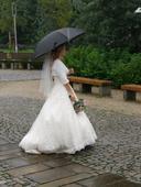 Svatební deštník černý,