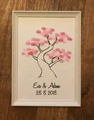 Svatební strom na zakázku, v rámu a s razítkem,