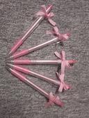 růžové propisky s mašličkou 14 ks,