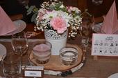 Kompletní výzdoba na stůl - rustikální a růžová,