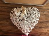 Velké svatební dřevěné srdce,