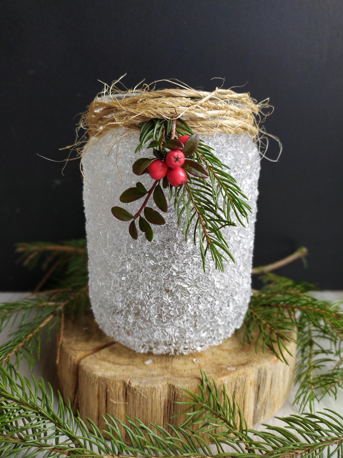 Náš domov ve svahu - Vánoční lucerna, kterou jsme vyráběly s dcerou