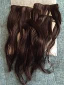 Clip in vlasy - tmavě hnědá barva,