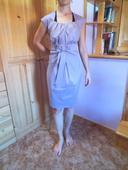 Pěkné pouzdrové šaty v barvě lila, velikost 44-46, 44