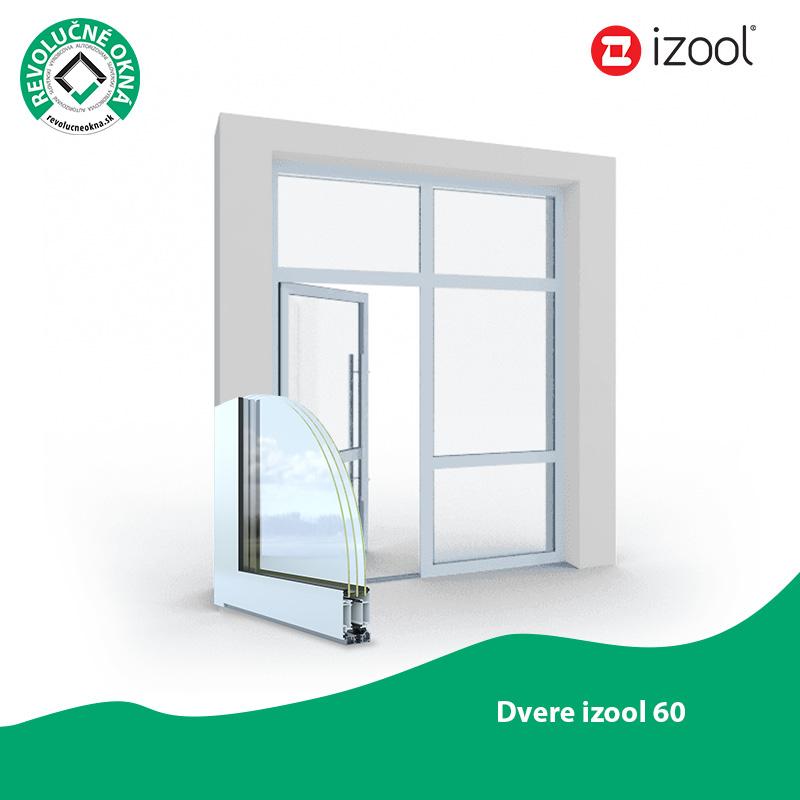 Izool ponuka okien a dverí - Hliníkové dvere zo systému IZOOL 60 sú častou voľbou pri výstavbe nebytových komplexov a administratívnych budov. Sú extrémne stabilné a tvarovo stále aj pri intenzívnejšom namáhaní. Výborne odolávajú vonkajším vplyvom a majú spoľahlivú funkčnosť po