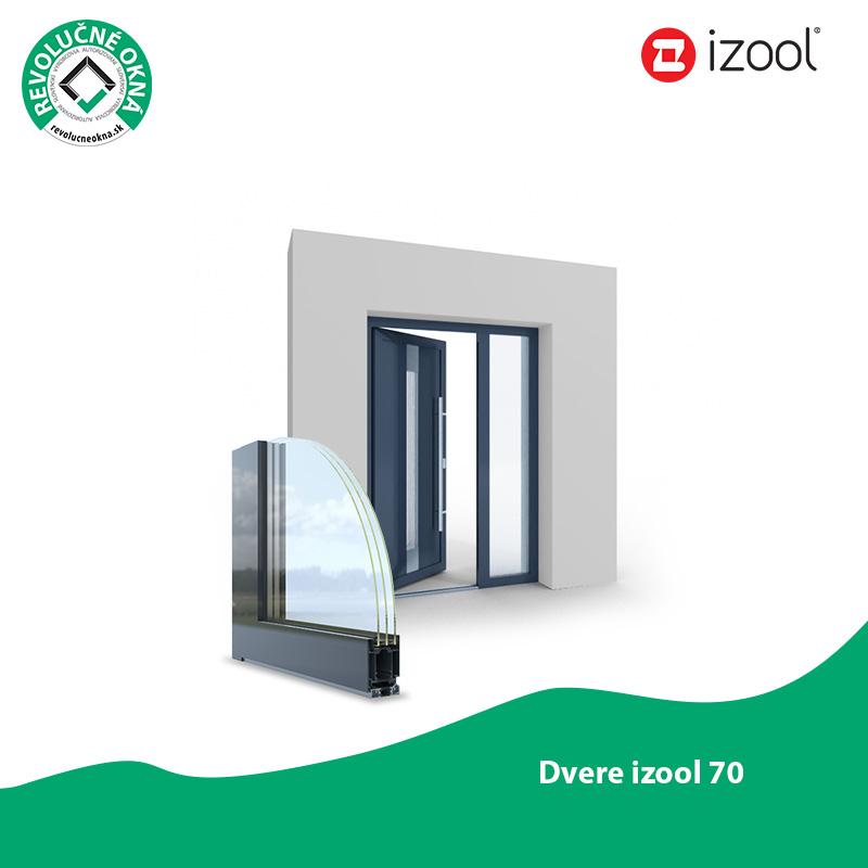 Izool ponuka okien a dverí - Moderné vchodové dvere z profilového systému Izool 70 spĺňajú predstavu o bezpečnom domove. Vyznačujú sa dobrými tepelno-izolačnými vlastnosťami, povrchovou stálosťou, pevnosťou a odolnosťou voči poveternostným podmienkam.