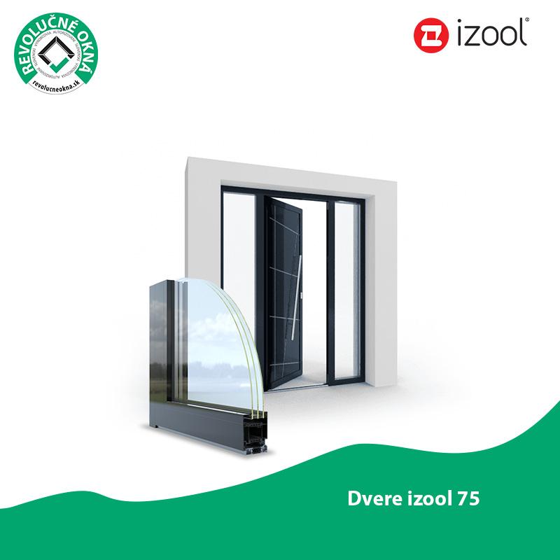 Izool ponuka okien a dverí - Vchodové dvere z profilového systému Izool 75 spĺňajú Vaše predstavy z estetického aj bezpečnostného hľadiska. Vďaka kvalitnej tepelno-izolačnej a zvukovo-izolačnej vlastnosti vytvárajú pocit pohodlia a domova.