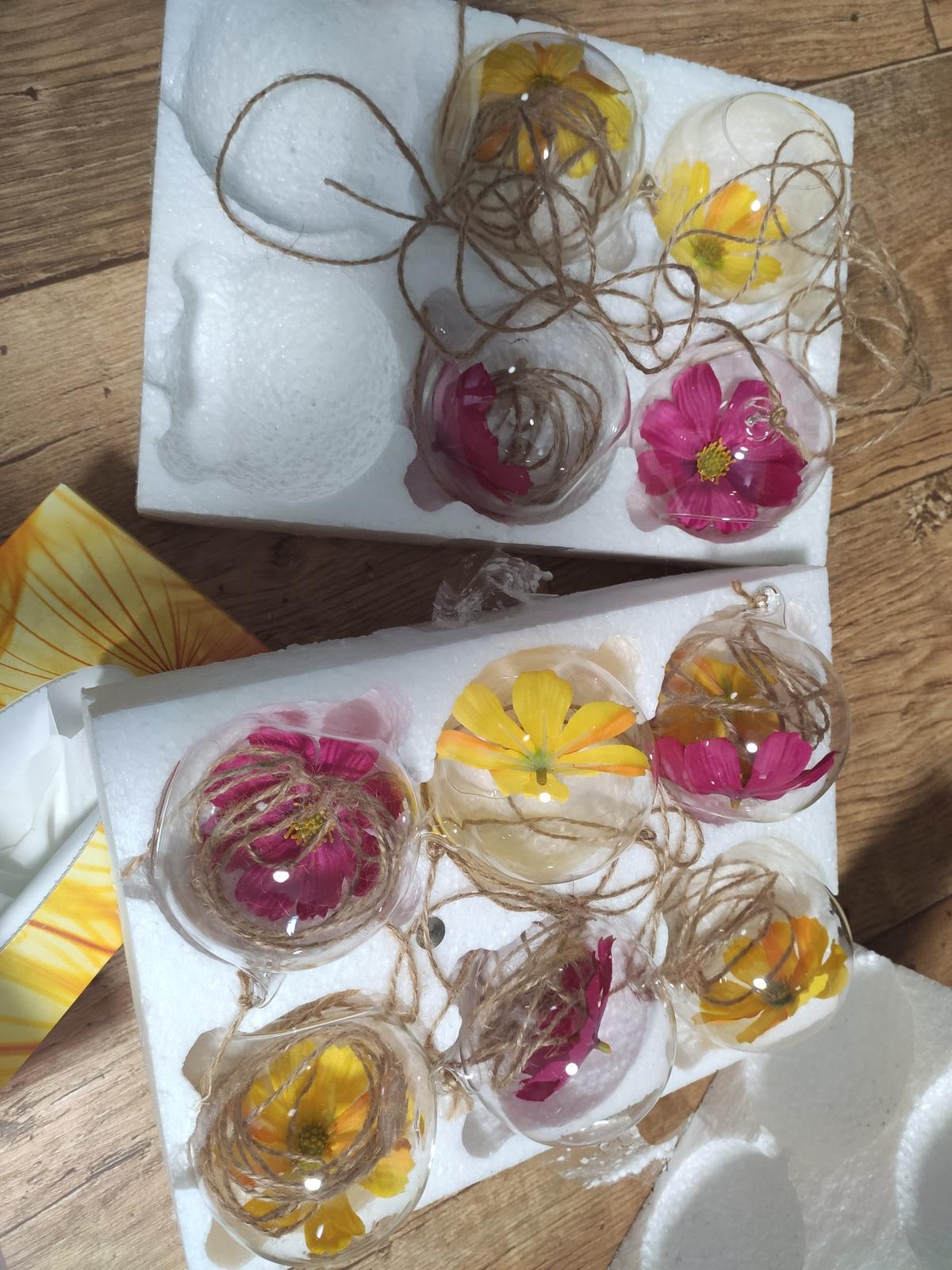 Baňky na svíčky nebo kytky na zavěšení - Obrázek č. 1