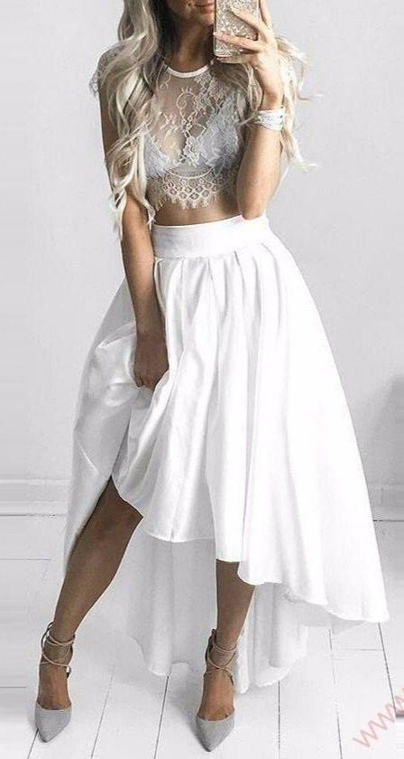 Svatební nebo půlnoční sukně do pasu + tričko - Obrázek č. 1