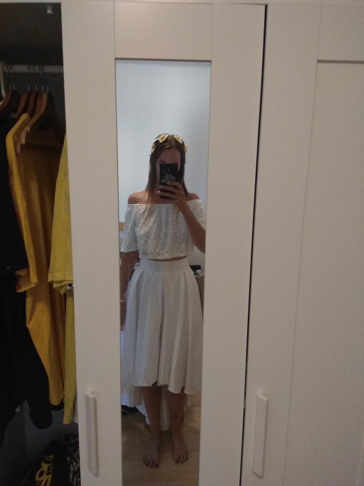 Svatební nebo půlnoční sukně do pasu + tričko - Obrázek č. 4