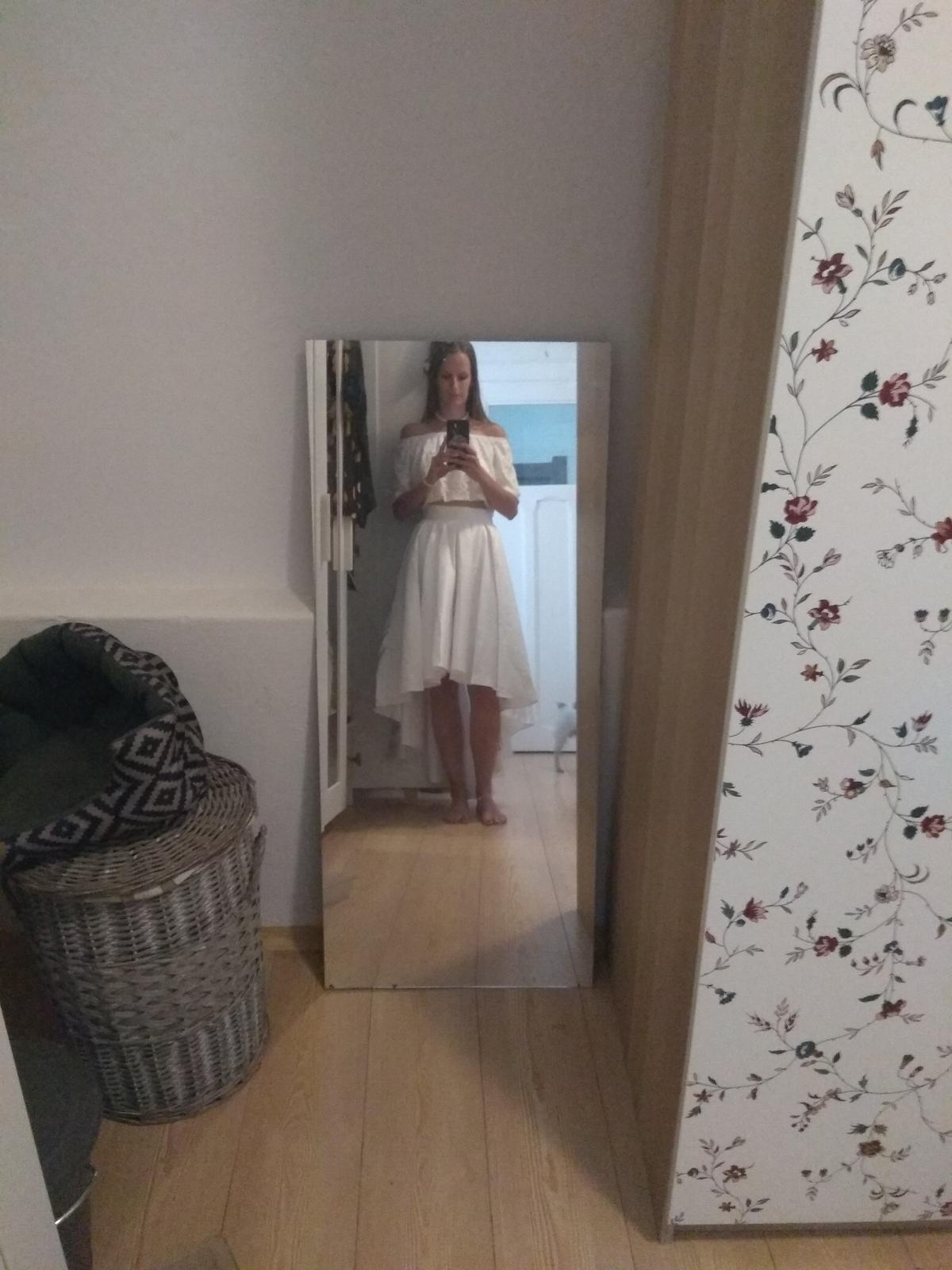 Svatební nebo půlnoční sukně do pasu + tričko - Obrázek č. 3