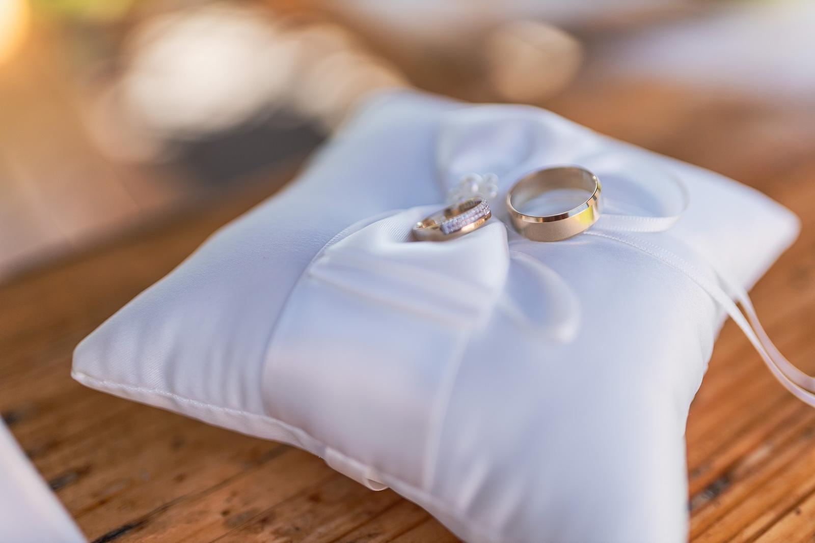 Vankúšik na obrúčky, prstene - Obrázok č. 1