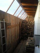 dočasná dreváreň ... ploto-dreváreň