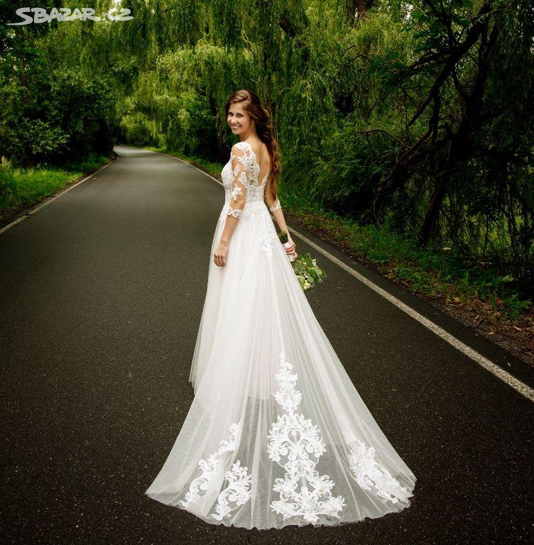 Svatební šaty (vel. xs-s) - Obrázek č. 2
