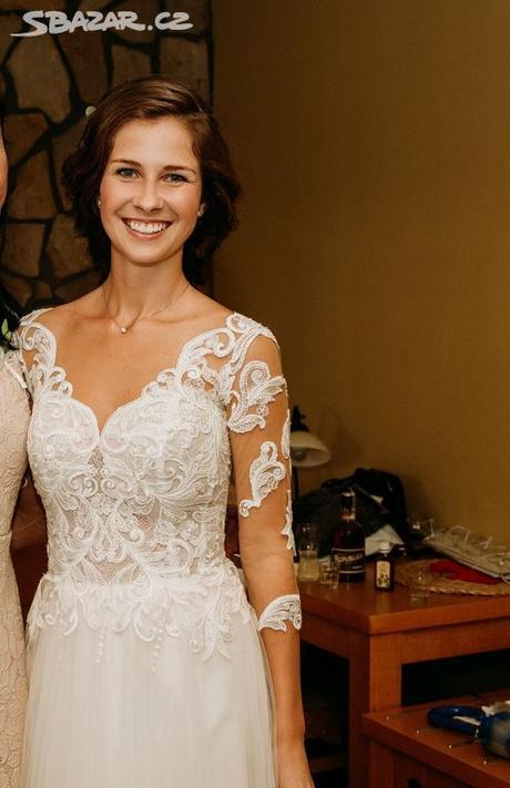 Svatební šaty (vel. xs-s) - Obrázek č. 3