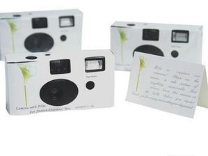 jednorázový fotoaparát pro hosty na momentky:-)