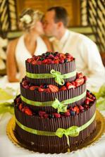 krásný a dobrý svatební dort