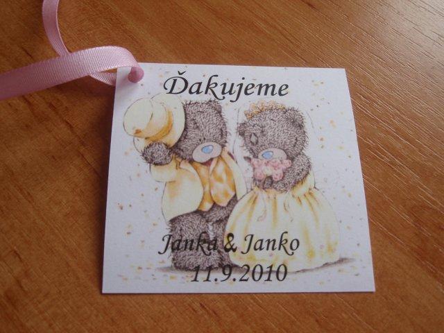 Jankajanko - ďakovné kartičky na výslužky