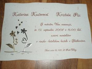 svadobne oznamenie :)