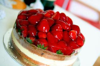 jahodový dortík objednaný