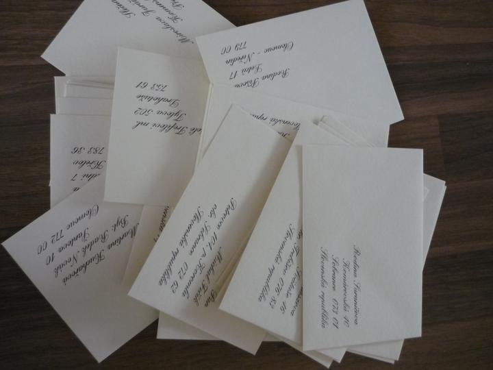 Co už máme - Obálky už jsou přpravené :)