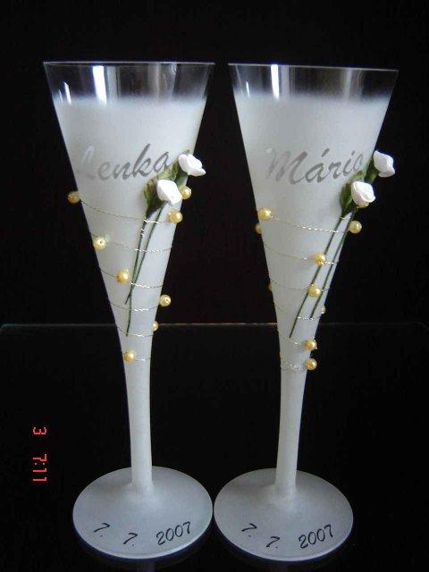 Naša Svadbička :):):) - Tieto poháre sa mi celkom páčili :):):)