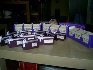 moje ruční výroba -čokoládky a jmenovky