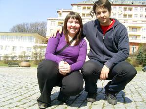my dva v Luhačovicích na odpočinku před prvním pečení koláčků :)