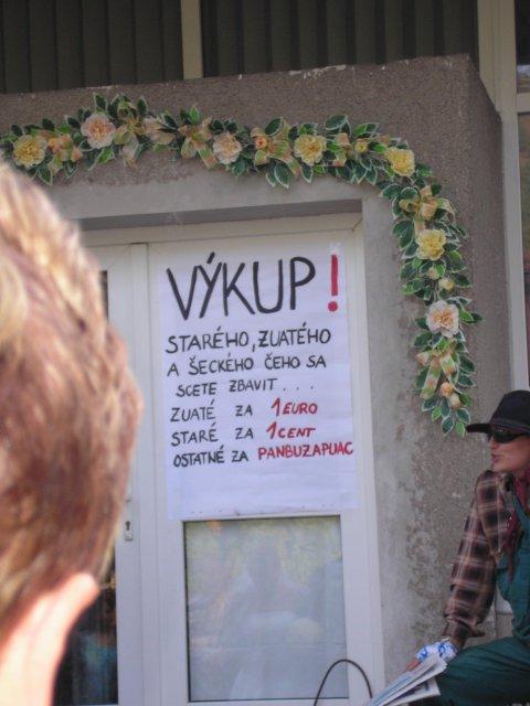 Moje veľké prípravy :) - napis na dverach