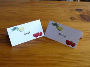 Jmenovky na stůl - naše vlastní výroba :-)