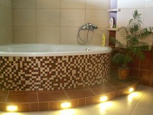LED osvetlenie v kúpelni v prevádzke
