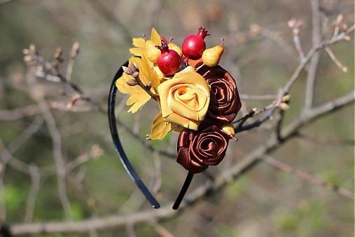 Látkové kytice, čelenky,opasky - Obrázok č. 7