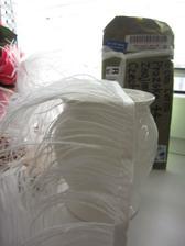 Peříčkový pás poslouží do svatební kytice - nebo spíš okolo svatební kytice