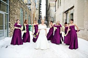 Purple winter wedding theme