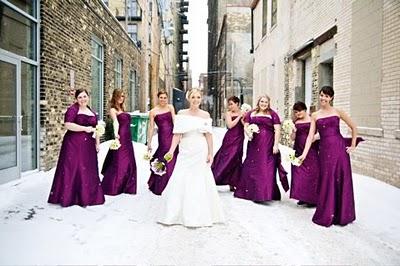 Winter Wedding ideas - Purple winter wedding theme