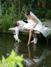 tak nejak si představuju svatební fotky
