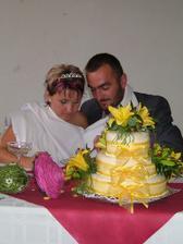 sestřičky dortík