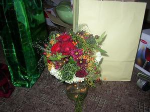 moje kytička den po svatbě