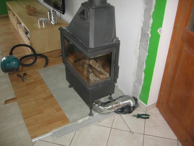Krb + úpravy - prívod ext. vzduchu z pivnice