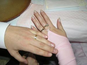 ...to su nase prstienky...
