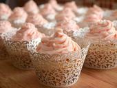 Krajkové košíčky na cupcakes ,