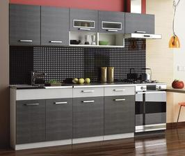 Kuchyňa MOREEN II 240, surf black/gray-- OBJEDNANE