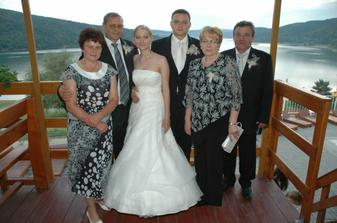 s rodicmi na terase, a Domasa :)