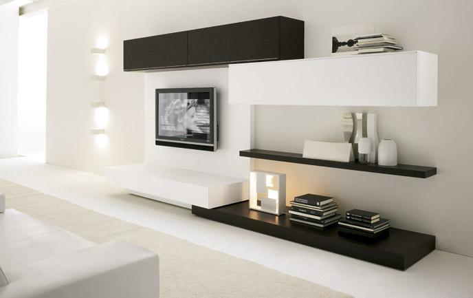 Myslím si... aneb inspirace pro naše bydlení - jednoduchá sestava a zavěšená televize