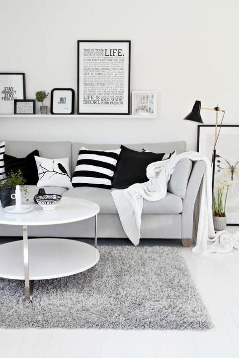 Myslím si... aneb inspirace pro naše bydlení - váhám, jestli ladit obývák do šeda, nebo do hněda...