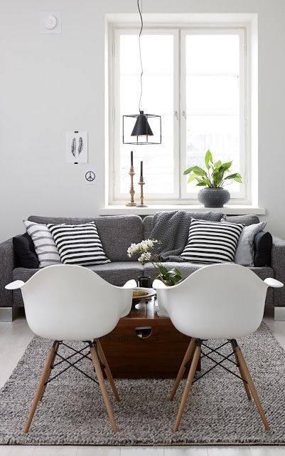 Myslím si... aneb inspirace pro naše bydlení - bílá s šedou a snová křešílka..