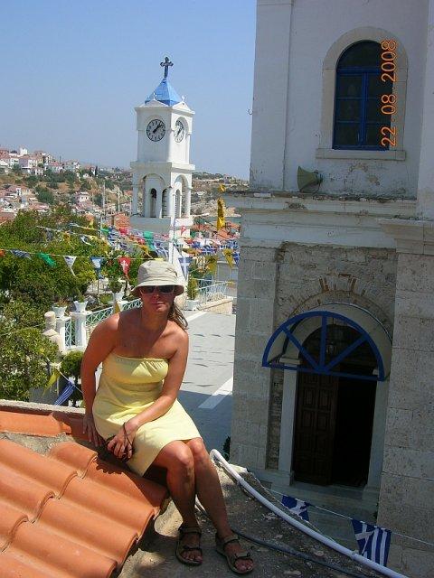 Jaja{{_AND_}}Majko - na streche kostoliku v Samose, mestecko Pythagorio